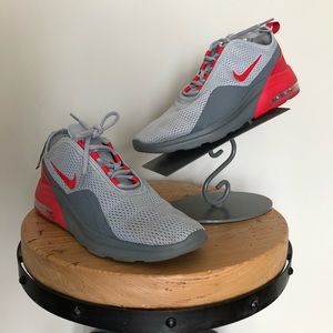 Nike Air Max Motion 2 Grey Red Size 9.5